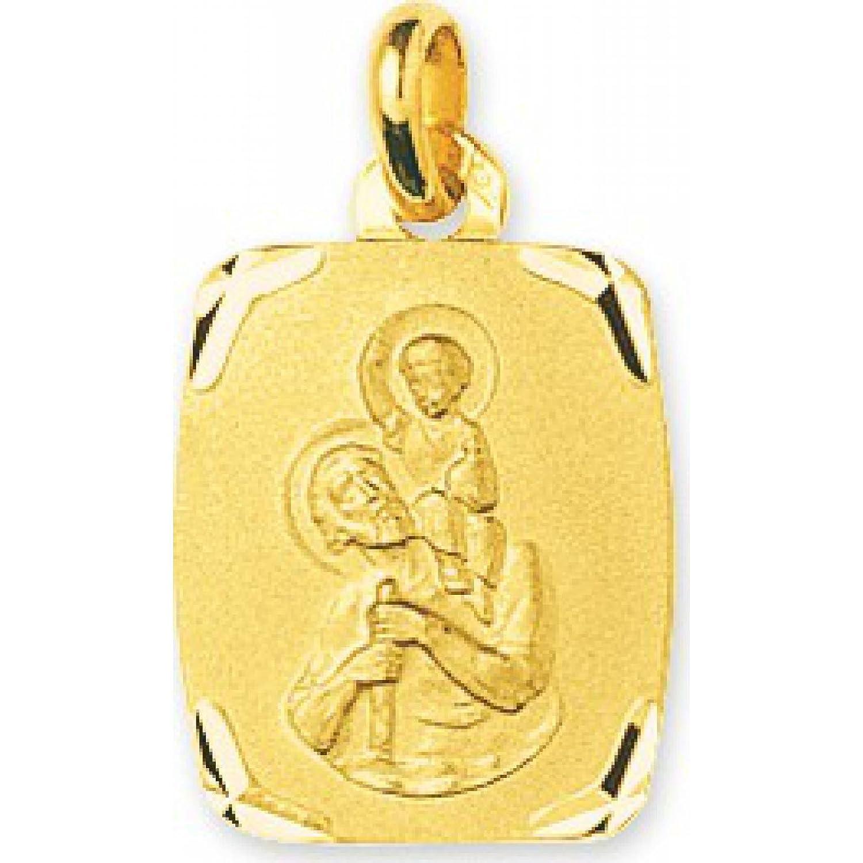 Gold Damen Anhänger Motiv Heiliger Christophorus Murat Jesus Christ, rechteckig, mit Paris-Motiv günstig kaufen