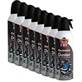 Falcon DPXL8 Brand New Air Computer TV Gas Compressed Cans Duster 10 oz - 8 Pack (Color: Colorless, Tamaño: 8 Pack)
