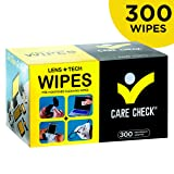 Care Check Lens Wipes, 300 Pre-Moistened Cleaning Wipes for Cameras, Laptops, Cell Phones, Eyeglasses, Other Screens and More (Tamaño: 300 Lens Wipes)