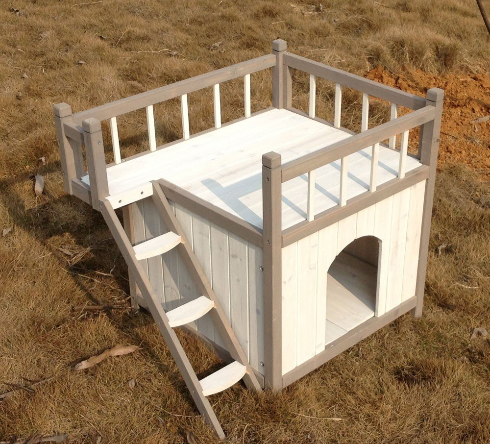 niche pour chien avec balcon. Black Bedroom Furniture Sets. Home Design Ideas