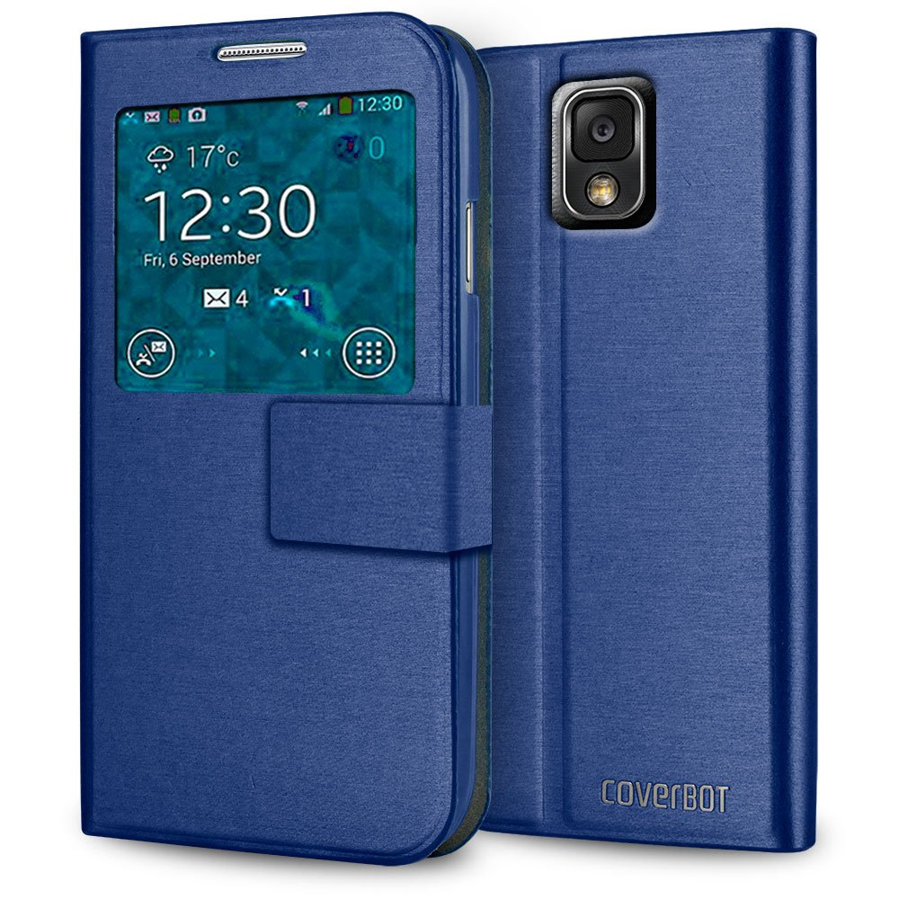 CoverBot Samsung Galaxy Note 3 S-View Flip Cover - Blue