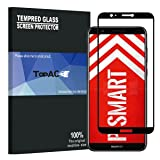 TopACE Bye-Bye-Bubble Premium Quality Tempered Glass 0.3mm Full Cover Screen Protector for Huawei P Smart / Enjoy 7S (Black)