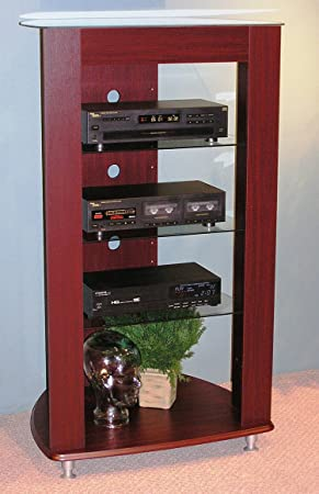 5-shelf Audio Entertainment Stand (4dcon-64623) From 4d Concepts