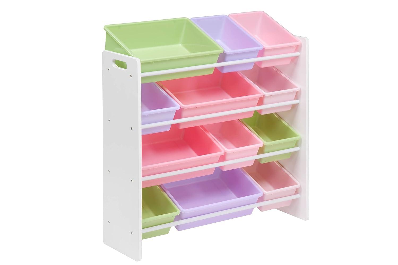 Honey-Can-Do Kids Toy Organizer And Storage Bins White