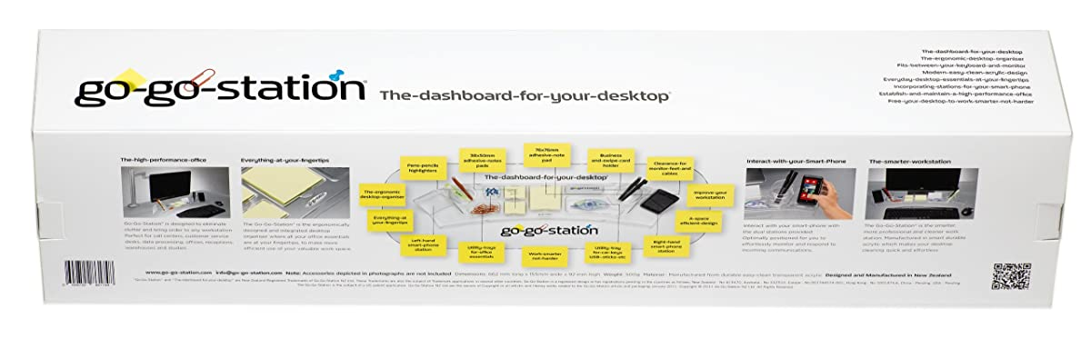 Go-Go-Station Desktop Organizer, the Dashboard for Your Desktop