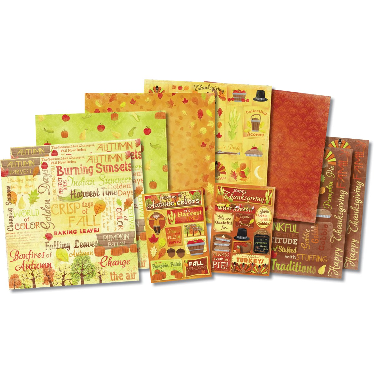 Scrapbook paper examples - Karen Foster Bushel Of Blessings Scrapbook Kit This Kit Makes It Easy To Create Scrapbook Layouts Cards And Other Craft Projects With Themed Paper And