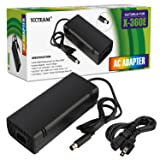 YCCTEAM XBOX 360 E Power Supply, Power Supply Cord AC Adapter Replacement Charger for Xbox 360 E, 100-240V Auto Voltage, Black (Color: 360 E)