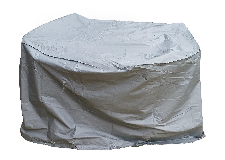 Gartenfreude Schutzhülle PE für Gartenmöbel, rund, 160 x 90 cm, grau günstig online kaufen