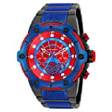 Invicta Men's 'Marvel' Quartz Stainless Steel Casual Watch, Color:Two Tone (Model: 25782) (Color: red)
