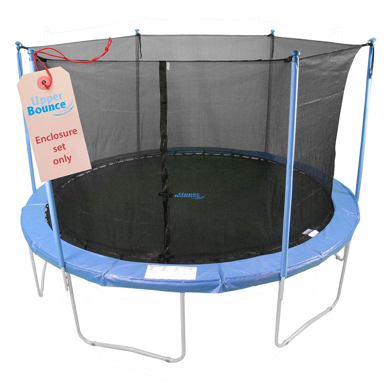 Upper Bounce 6 Stangen Trampolin Einzäunungs-set, passend für ein 2,44 m Trampolinrahmen mit ein Set von 3 oder 6 W-förmige Beine (Trampolin ist nicht inkludiert) jetzt kaufen