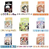 Raleighsee My Hero Academia Anime and Paper Tape Cartoon Simplicity Self Adhesive Seal Sticker Office School Supplies Hot Gift for Fans(9PCS) (Color: 9pcs)
