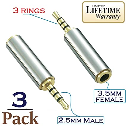 2.5mm Mono to 3.5mm Stereo 2.5mm Male to 3.5mm Female