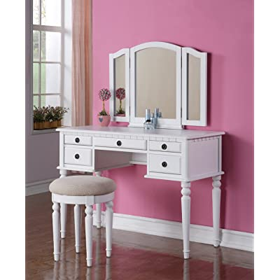 Vanity Table Color White