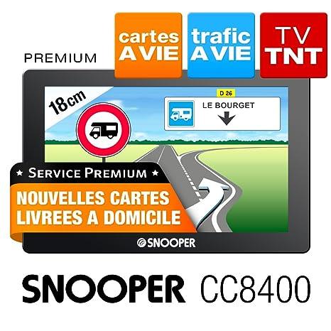 """Snooper CC8400: GPS Camping Car 7"""" avec télévision TNT et CARTE A VIE"""