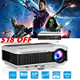 EUG LCD LED Multimedia HD Video Projector 3900 Lumens 1280x800 1080P Digital Movie Gaming Projector HDMI USB TV AV VGA Audio for Laptop PC Smartphone DVD PS4 Xbox Wii Home Theater Outdoor Party (Color: WXGA LCD Home Projector, 3900 Lumen, Tamaño: X88+)