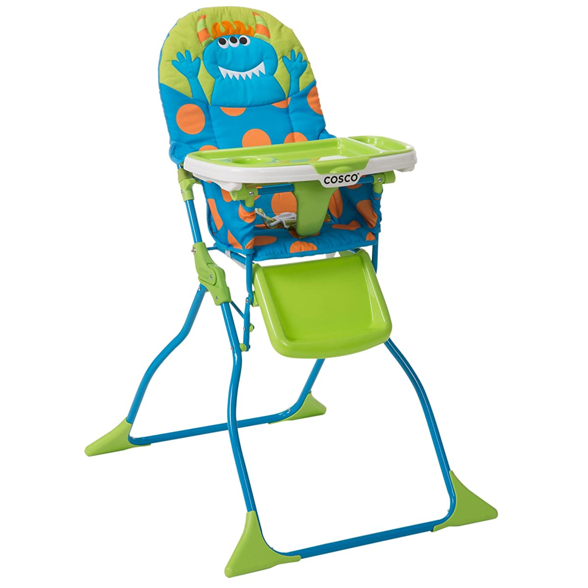 Cosco Simple Fold Deluxe High Chair Monster Syd