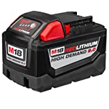Milwaukee Electric 48-11-1890 M18 18VDC Red Lithium-Ion High Demand 9.0 Ah Battery Pack (Color: red)