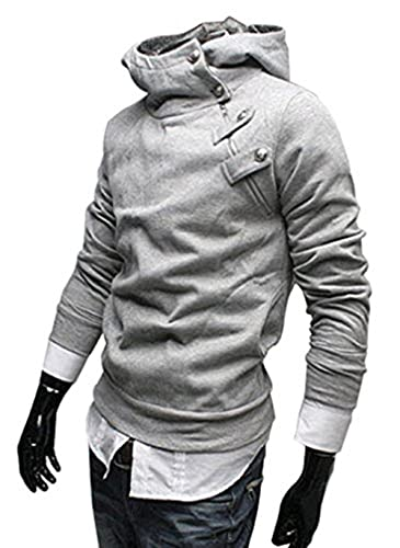Amoin Men Casual Fashion Zipper Slim Fit Hoodies Jackets Coats New Men Casual Fashion Zipper