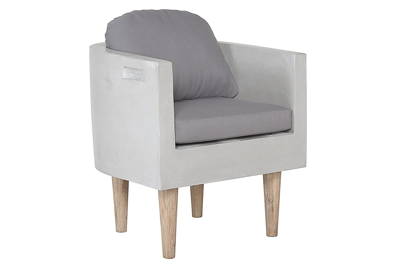 Curve Sessel Fiberstone aus Fiberstone in moderner Betonoptik Gartensessel Gartenmöbel jetzt kaufen