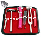 DDP LED FIBER OPTIC OTOSCOPE TUNING FORK C128 REFLEX HAMMER DIAGNOSTIC ENT SET-PINK