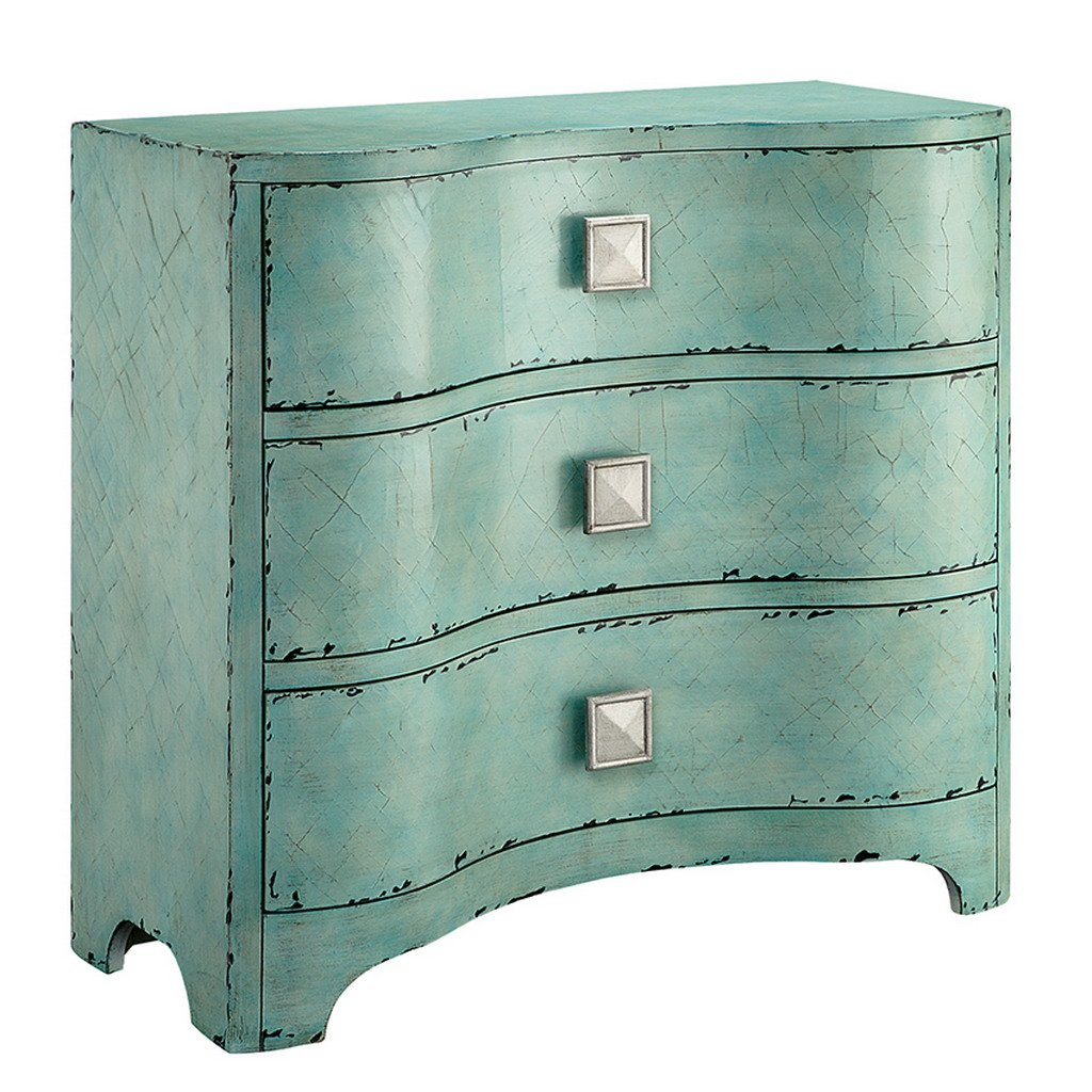 Madison Park Fulton Crackle Bombe Chest Blue See below 3