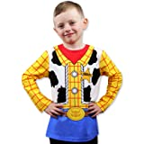 Toy Story 4 Sheriff Woody Boys Girls Baby Toddler Long Sleeve T-Shirt Tee (12 Months, Blue/Yellow) (Color: Blue/Yellow, Tamaño: 12 Months)