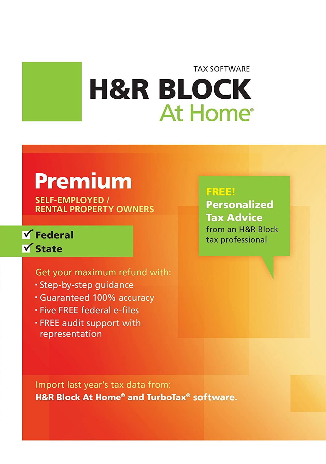 H&R Block At Home Premium + State 2012 Win [Download] $22.48