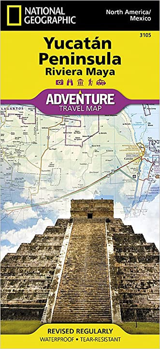 Yucatan Peninsula: Riviera Maya [Mexico] (National Geographic Adventure Map)