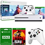 Microsoft Xbox One S 1 TB Battlefield V Bundle with Red Dead Redemption 2, 3-Month Xbox Live Gold Membership, and Wireless Controller (White)