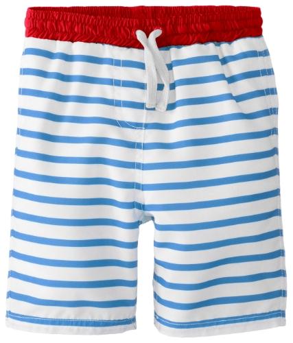 Egg By Susan Lazar Baby-Boys Newborn Striped Board Short, Blue Stripe, Small front-382499