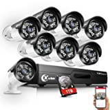 XVIM 720P Outdoor Home Security Camera System - 8 Channel 1080N DVR 1TB Hard Drive 8 HD Bullet Surveillance Cameras with Night Vision and Motion Detection (Color: 8CH DVR w/8 Cameras 1TB, Tamaño: 1TB)