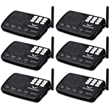 Wireless Intercom System Hosmart 1/2 Mile LONG RANGE 7-Channel Security Wireless Intercom System for Home or Office (2018 New Version) [6 Stations Black]