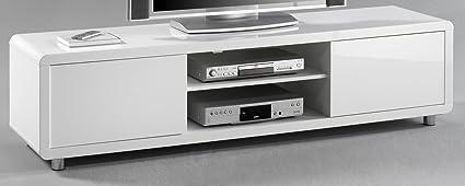 7.7.6.3031: modernes TV-Board - TV-Lowboard 180cm - weiss hochglanz - hochglanz weiss mdf - TV-Schrank weiss