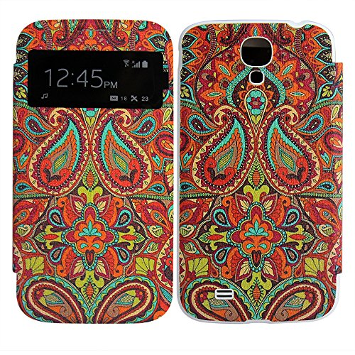 Samsung Galaxy S4 i9500 i9505 Battery Flip MUSTER #4 PU LEATHER case custodia caso borsa bag Cover BATTERY COVER protettiva thematys®