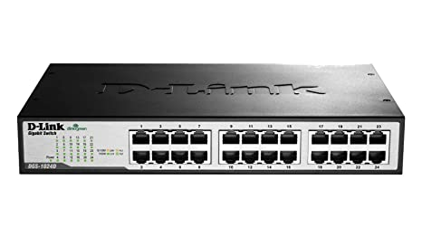 D-Link DGS-1024D Switch 24 ports gigabit Ethernet Gris