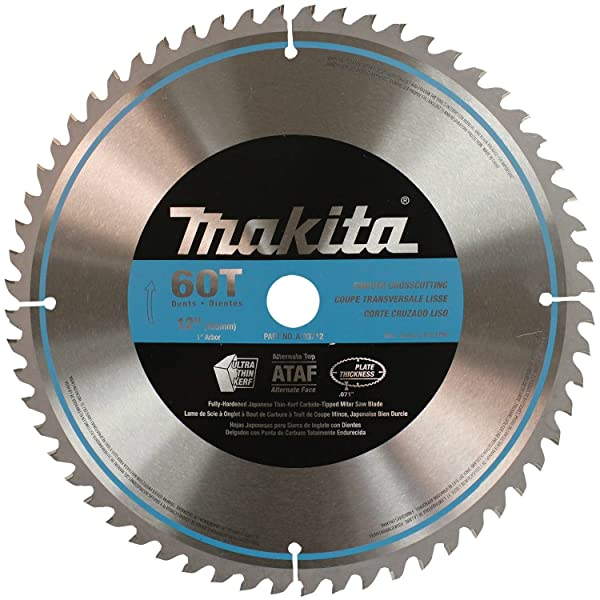 Makita A-93712 12-Inch 60 Tooth Micro Polished Mitersaw Blade (Color: Silver)