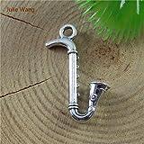 Saxophone Pendant Alto. Saxophone 20PCS Antique Silver Color Alloy Saxophone Charms Pendants Jewelry Accessory Suspension Necklace 51677