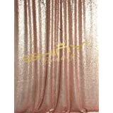 ShiDianYi 4FTX6FT-Blush-SEQUIN PHOTO BACKDROP, Wedding Photo Booth,Photography Background (Blush) (Color: Blush, Tamaño: 4FTx6FT)