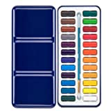 Bianyo Watercolor Paint Set with 24 Colors Watercolor Paper Brush Gift Travel Case Watercolor Set for Students Artists Kids Fun Arts Craft Projects (Color: 24 Colors)