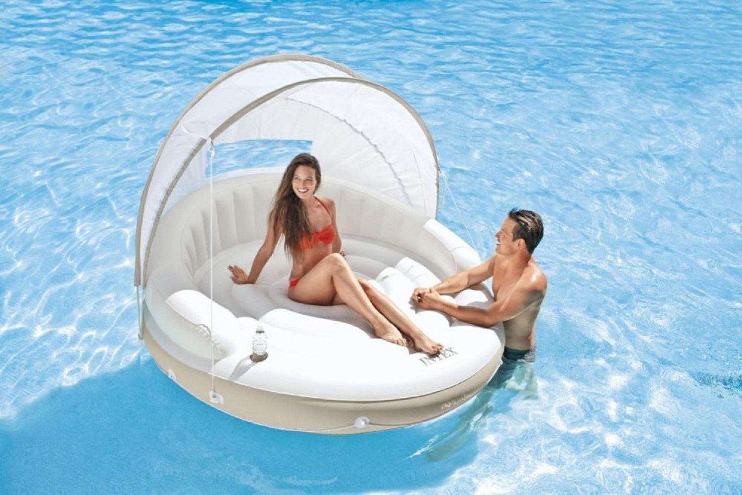 Insel mit Sonnendach Badeinsel der ultimative Badespaß / Insel für ideale Urlaubsstimmung / Schwimminsel / Badeinseln / Relaxen auf der eigenen Insel / Maße ca. 199 cm x 150 cm jetzt bestellen