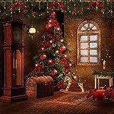 GladsBuy Chrismas Decoration 8' x 8' Digital Printed Photography Backdrop Christmas Theme Background YHA-069