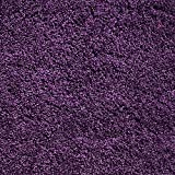 Soft Shag Area Rug 7x10 Plain Solid Color PURPLE - Contemporary Area Rugs for Living Room Bedroom Kitchen Decorative Modern Shaggy Rugs