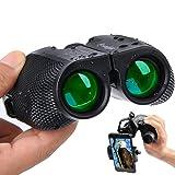 Compact Binoculars for Adults - 10×25 High Powered Small Lightweight Zoom Binocular With Universal Phone Mount for Kids Women Men Hunting,Travel,Birding Waterproof Weak Light Night Vision