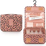 Toiletry Bag for Women,Mossio Waterproof Big Makeup Case with Large Compartment Pink Leopard (Color: Pink Leopard, Tamaño: One Size)