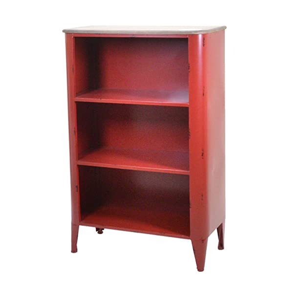 Vacchetti Giuseppe 8032250000 Mobile Edimburgo Scaffale, 3 Piani, Metallo, Rosso, 47 x 34 x 106 cm