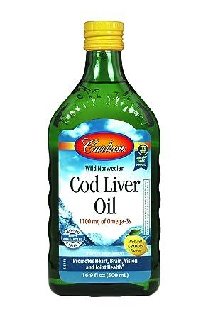 Carlson - Norwegian Cod Liver Oil Lightly Lemon Taste High in EPA & DHA - 16.9 oz by Carlson at amazon