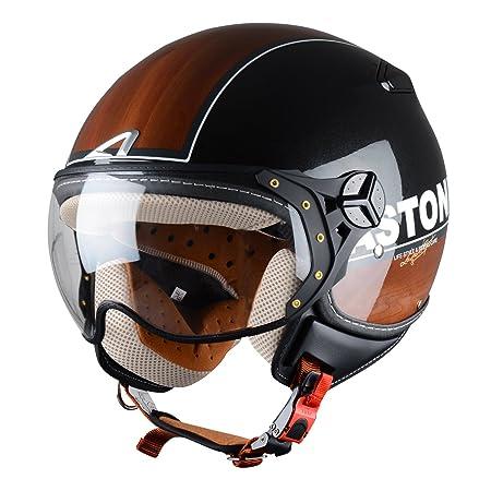 Astone Helmets KSRGEX-BRBXXL Casque Jet KSR Break Wood Noir Taille XXL