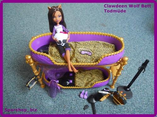Mattel W2577 Monster High Clawdeens Todschickes Etagenbett Puppe Und Zubeh R Spielzeug