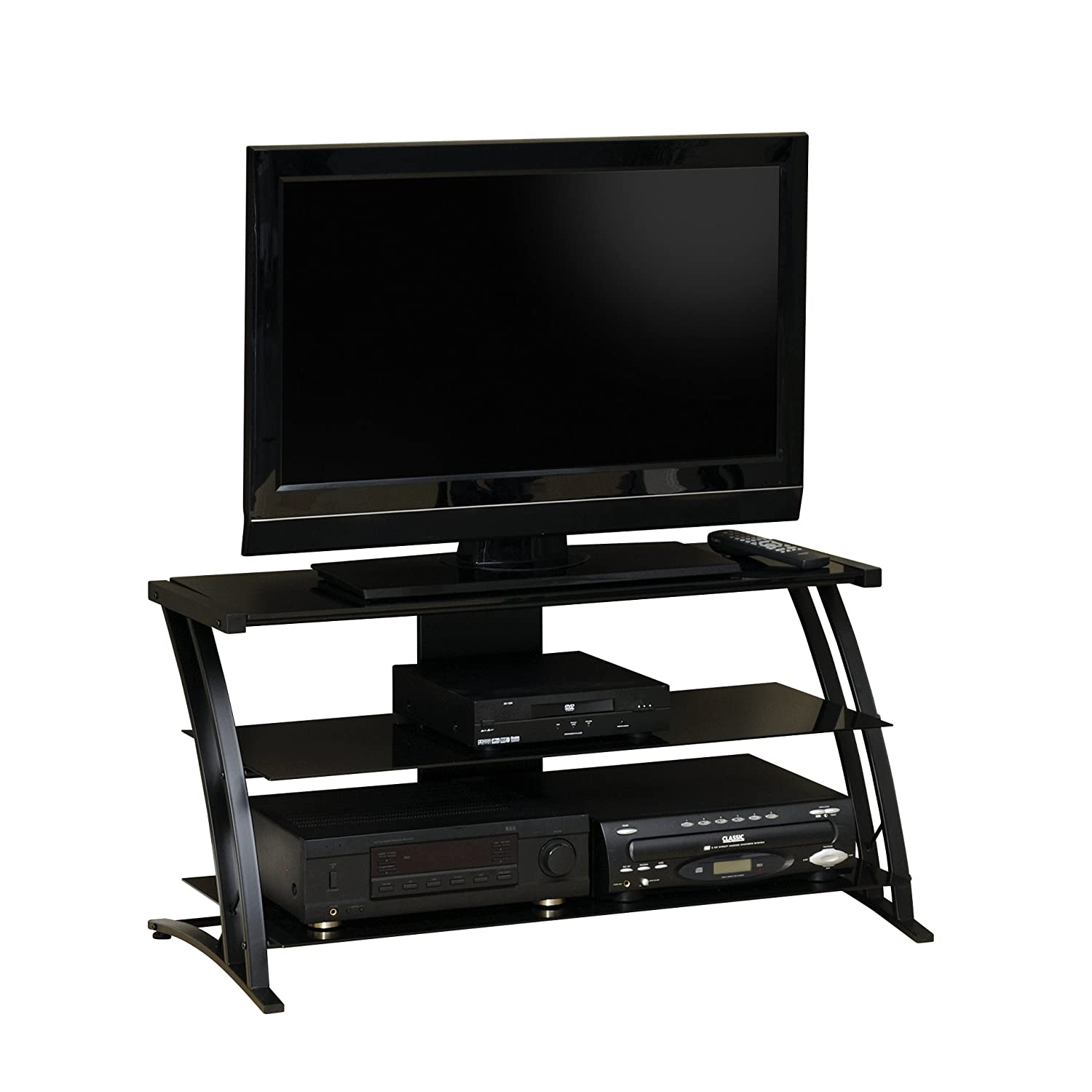 Sauder Deco Panel TV Stand, Black $79.00