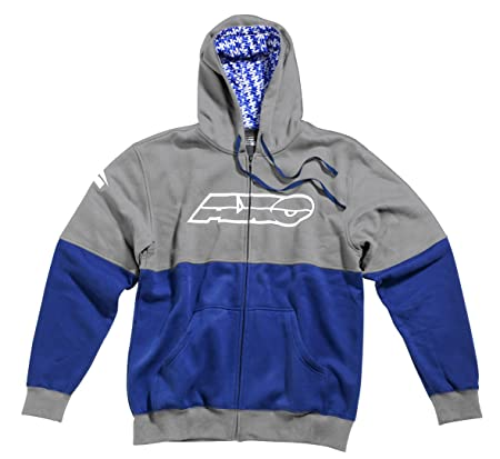 AXO FT5T0147-GB Sweatshirt Racing , Taille L, Gris/Bleu